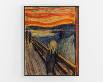 The Scream, Edvard Munch, The Scream Edvard Munch, Edvard Munch Print, Edvard Munch Art, The Scream Print, The Scream Canvas, 201