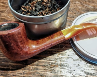 Estate Briar Tobacco Pipe Marked Compact Imported Briar Italy A