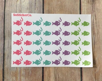Gone Fishing Stickers, Colorful Fishy Stickers, Fishing Stickers, Fish Stickers, Planner stickers, Stickers for Planner