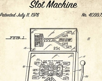 Pool table patent print pool table patent poster blueprint etsy slot machine patent print 1978 slot machine design patent blueprint art casino lover gift blueprint poster game room wall art malvernweather Image collections