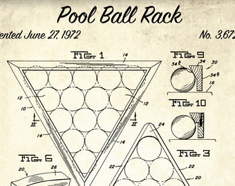 Pool table patent print pool table patent poster blueprint etsy pool ball rack patent print pool ball rack patent poster blueprint art vintage billiard gift blueprint poster game room art malvernweather Image collections