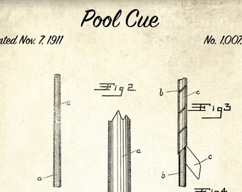 Pool table patent print pool table patent poster blueprint etsy pool cue stick patent print billiards cue patent poster blueprint art vintage pool game gift blueprint poster game room wall art malvernweather Image collections