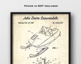 Wall Art Print w// Optional Frame Ski Pole Skiing Winter Outdoor Sports Patent