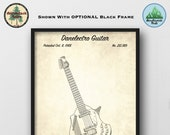 Danelectro Guitar Patent Art Print - Vintage 1968 Poster Art - Guitar Player Gift - Music Room Wall Decor - Music Store Wall Art