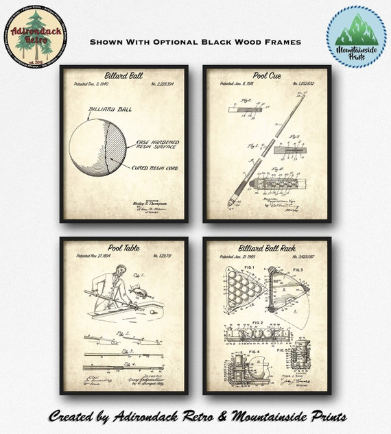 Ready To Be Framed! Patent Print 2 Print Set Cypress Garden Water Skis 1964
