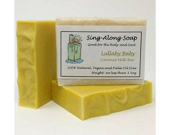 COCONUT MILK Soap, Vegan Soap, Unscented Soap, Natural Soap, Carrot Soap, Soap Made in the USA