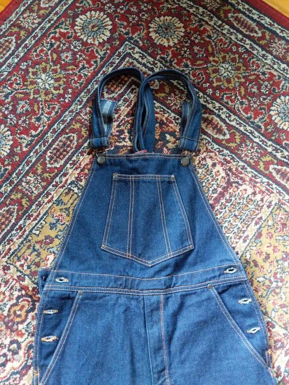 Vintage 70s 80s Denim Jean Overalls Size 32 Made i