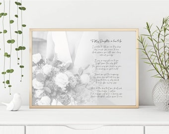 Wedding Gift for Daughter in Law from Father in Law Truck Bouquet Bride Printable Instant Download File 8x10 Digital Print