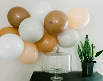 MINI Western Boho Neutral Balloon Garland Party Kit Tan Nude Kit 10 pc