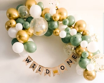 Green Gold Sage Balloon Garland  Kit Birthday Bridal 127 peices