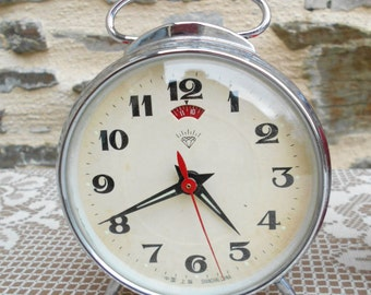 Vintage mechanical alarm clock,