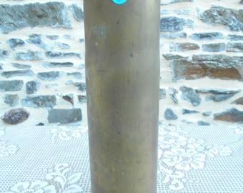 Vintage WW2  Brass Artillery Shell 75MM M5 A1 1942 (BB 1-1-28)