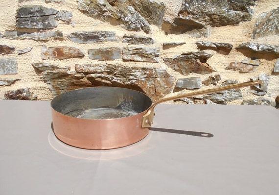 VILLEDIEU Vintage French Copper Saute Pan Villedieu 1.4MM