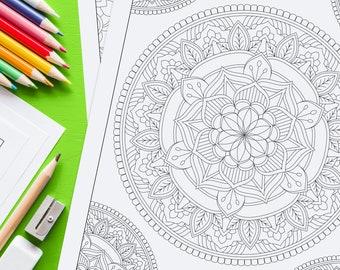 Adult Coloring Book PDF Adult Mandala Coloring Book Printable Coloring Pages Digital Instant Download PDF Stress Relief Vol 3