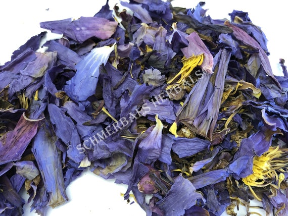 """Blue Lotus, Nymphaea caerulea, Cut and Sifted """"Deep Purple Thai"""" Organic ~ Sacred Herbs and Spices from Schmerbals Herbals"""