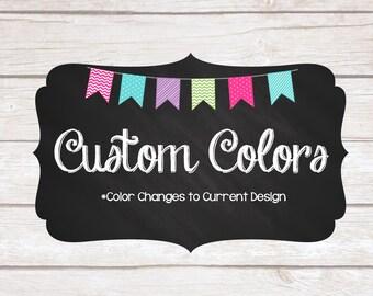 Custom Color Changes