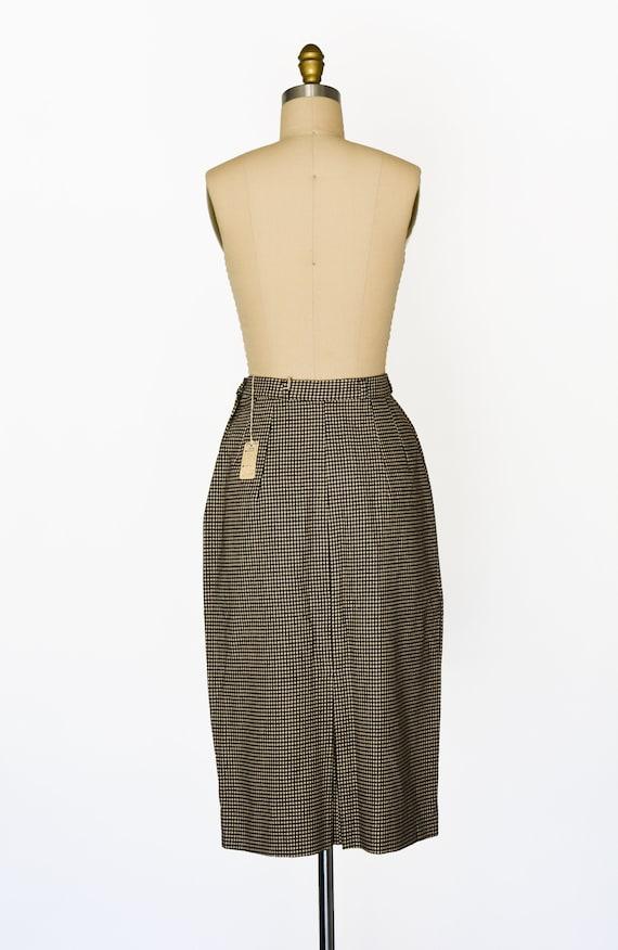 "Vintage 1950s Houndstooth Skirt/Waist 28"" - image 4"