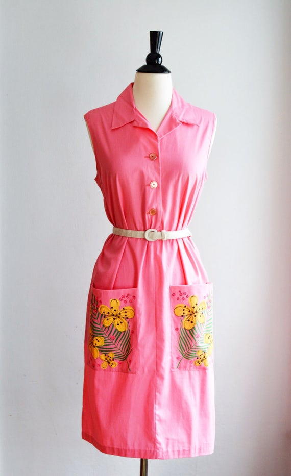 1940's/50's Handpainted Spring Dress by Princess P