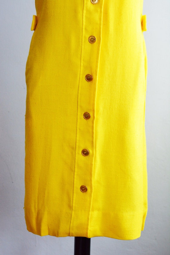 "1960's Peter Pan Collar Shift Dress/Waist 28"" - image 4"