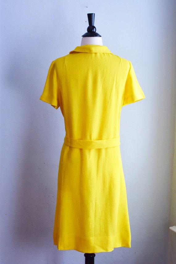 "1960's Peter Pan Collar Shift Dress/Waist 28"" - image 5"