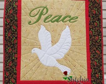 Christmas Peace Dove Digital Pattern