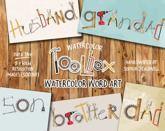 Tool Clipart Watercolor Graphics Instant Download Png Etsy