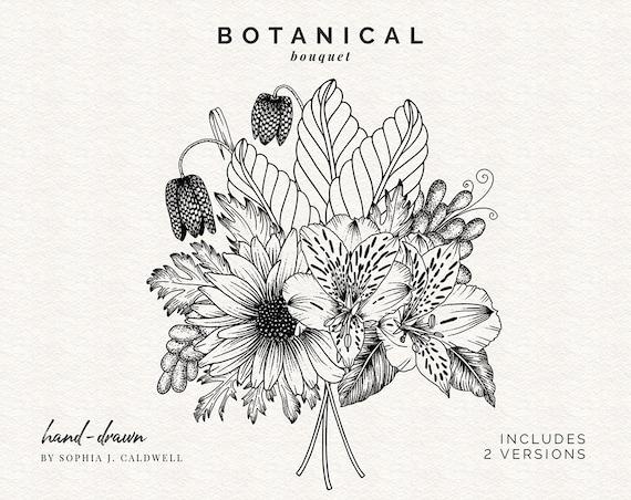 flower black and white clip art - Clip Art Library