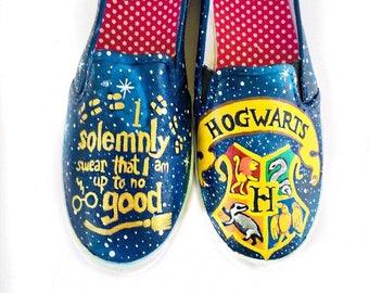 I solemnly swear I'm up to no good - Hogwarts Houses Shoe - Hogwarts Party - Harry Potter Themed shoes