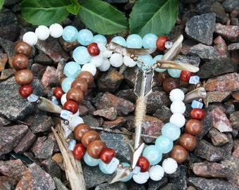 Skadhi/Skadi Heathen and Pagan Prayer Bead Necklace