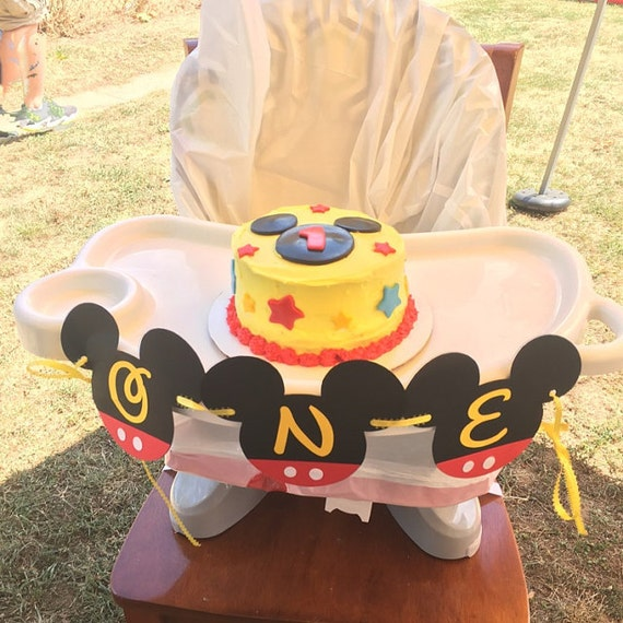 Mickey Mouse 1st Birthday Cake.Mickey Mouse First Birthday Highchair Banner Mickey Mouse Highchair Banner Mickey Highchair Decorations Mickey One Banner Cake Smash Banner
