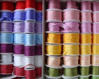 Wholesale 2mm natural silk ribbon for embroidery, fashion design and crafts