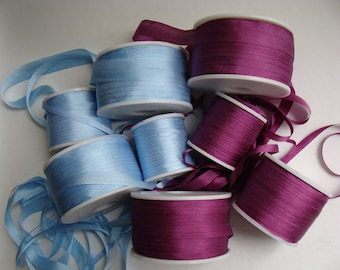Wholesale 7mm natural silk ribbon for embroidery, fashion design and crafts