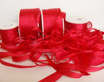 Wholesale 13mm natural silk ribbon for embroidery, fashion design and crafts