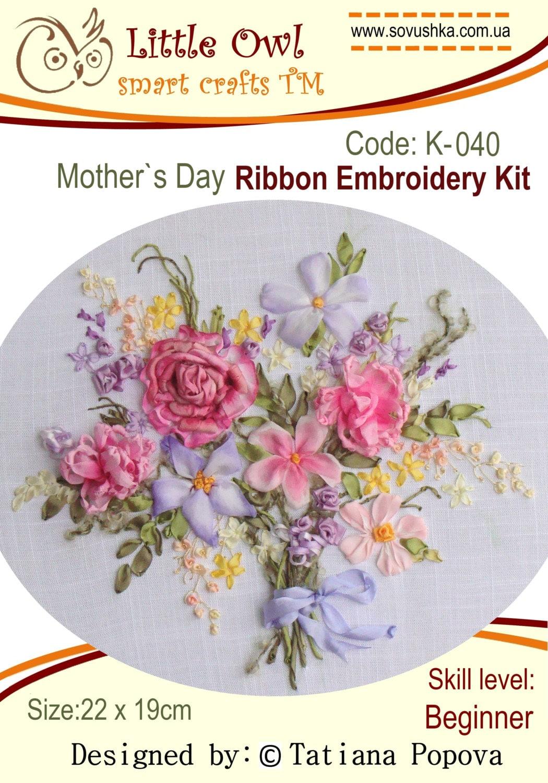Kit de broderie broderie broderie ruban fête des mères 7fc99c