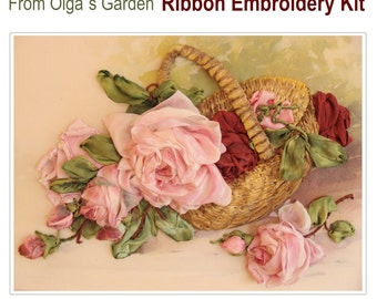 From Olgas Garden Ribbon Embroidery Kit
