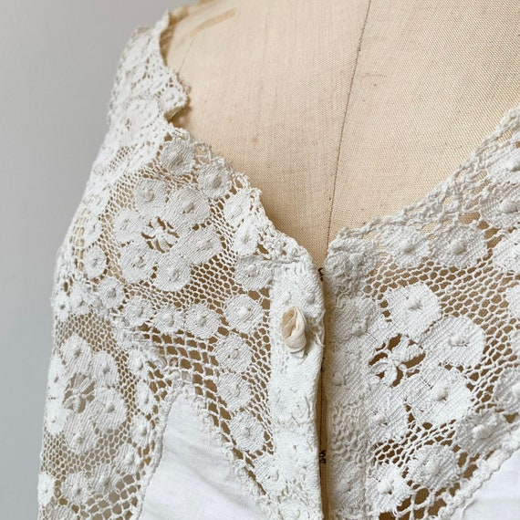 Nipple Lace Brassiere ~ Antique 1900s 1910s Decora