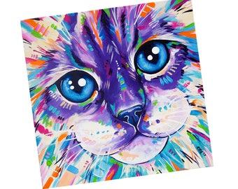 Cat Fridge Magnet, Fridge magnet art, Kitchen Decor, Ragdoll Cat, Gift under 5, Small gift idea, Cat lover gift