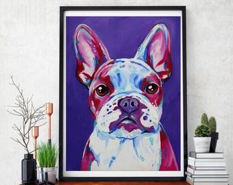 French bulldog, French bulldog art, French bulldog print, Frenchie, Frenchie wall art,  Frenchie decor, Frenchie gift