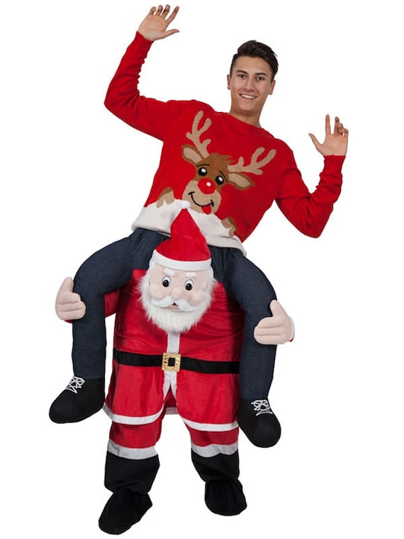 Christmas Fancy Dress Funny.Christmas Costumes Funny Ride On Mascot Costume Party Fancy Dress Novelty Clothing Adult