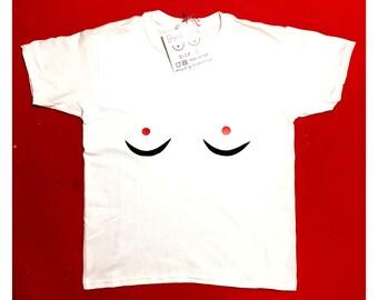 BOOB SHIRT, boob tshirt, boobie shirt, handmade shirt, breast top, girl power, feminist shirt, mother's day gift, girlfriend gift idea, love