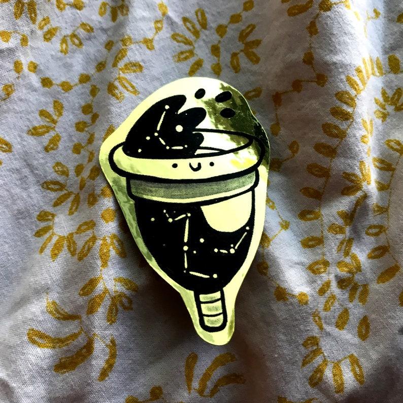 Diva Menstrual Cup Gold sticker female empowerment period ...