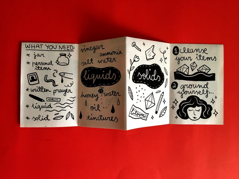 Witchcraft pocket guide, witch zine, pocket book, illustration zine, occult  zine, occult guide, magic guide, herbs guide, moon phase guide