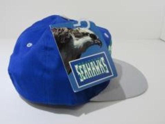 Blue Rare Vintage NFL Seattle Seahawks 90's Retro… - image 4