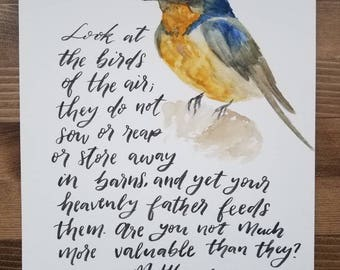 Original watercolor 'Barn Swallow'