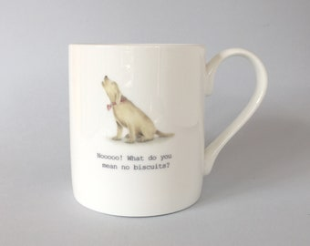 Bone china labrador mug.  Free P&P