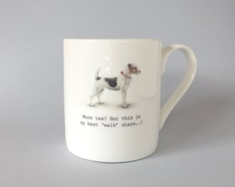 Bone china Jack Russell mug.       Free P&P