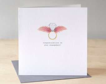 Engagement card.Free P&P