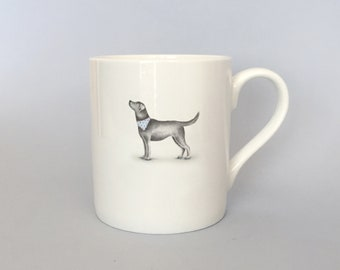 Bone china black lab mug (No words).  Free P&P