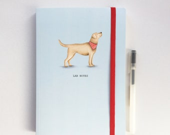 A5 lined luxury Notebook. Yellow labrador. Free P&P