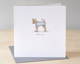 Funny terrier card. Free P&P